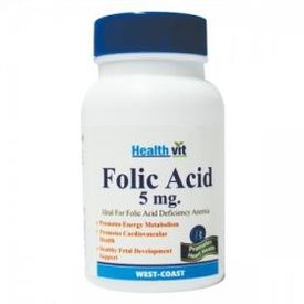 HealthVit Folic Acid 5mg 60 Tablets(Pack of 2)