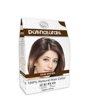 Pure Naturals - Dark Brown 100% Natural Hair Colour - 120 gms