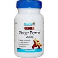 HealthVit Ginger powder 250 mg 60 Capsules (Pack Of 2)