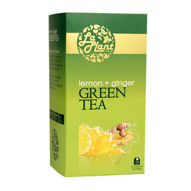 LaPlant Lemon & Ginger Green Tea - 25 Tea Bags, single pack