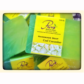 Puro Cool Cucumber Hand Made Soap - 100 Gms