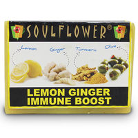 Soulflower Lemon Ginger Immune 100% Vegan soap - 150 gms