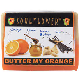 Soulflower Butter my Orange 100% Veg Soap