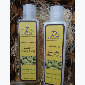 Puro Lavender Ylang Ylang Hair Cleanser-Conditioner Combo - 200 ml