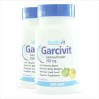 HealthVit GARCIVIT Pure Garcinia Cambogia Supplements for Weight Loss & Fat Burner 250mg 60 Capsules(Pack of 2)
