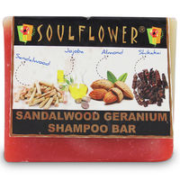 Soulflower Sandalwood Geranium Shampoo Bar 100% vegan - 150 gms