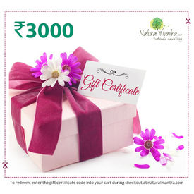 Natural Mantra Gift Certificate - Rs 3000