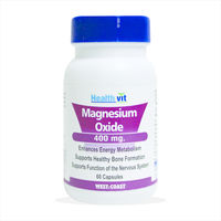 HealthVit Magnesium Oxide 400 mg. 60 Capsules, single pack