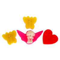 Soap Opera Buy 2 designer soaps & Get 1 Free - Butterfly+ Angel+ Message Heart (Free) 165 gm
