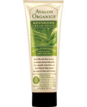 Avalon Organics Aloe Unscented Moisturizing Cream Shave