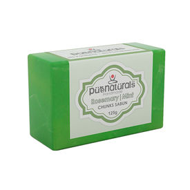 Purenaturals Hand Made Soap Rosemary| Mint Leafs - 125g (Set of 4)