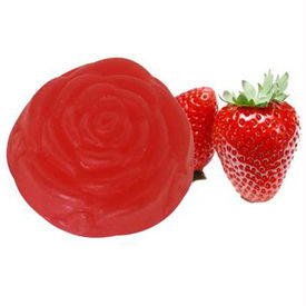 Soulflower Strawberry Pure Glycerin Soap - 100 gms