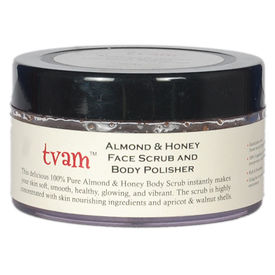 TVAM Face Scrub Body Polisher - Almond & Honey, 100 gms