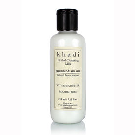 Khadi Cucumber & Aloevera Cleansilk Milk Cream With Sheabutter - Parben Free - 210 ml