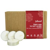 Omved Palm Wax Teal-Light Candle