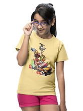 Girls Mr India Car & Characters T-Shirt, 6, yellow