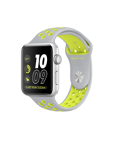 APPLE WATCH NIKE+ SERIES 2 SILVER ALUMINUM CASE WITH FLAT SILVER/VOLT NIKE SPORT BAND MNYQ2AE/A