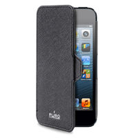 PURO IPHONE 5 BOOKLET ULTRA SLIM CASE,  black