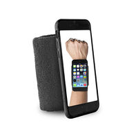 "PURO IPHONE 6 4.7"" RUNNING WRISTBAND with key pocket,  black"