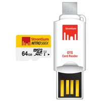 STRONTIUM NITRO UHS-1 MICRO SD 64GB CARD WITH OTG CARD READER