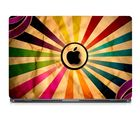 Skin Yard Coloured Graphic Black Apple Laptop Skin With Laptop Sleeve, 14.1 inch