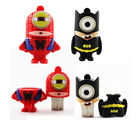 Shopizone 32 GB Pendrives USB 2.0 Spiderman Minion+ Batman Minion Storage Flashdrive, 32 gb