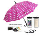 Shopizone Single Fold Umbrella With Mobile Pouch Case ( CO-0203), pink