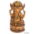 Craftsgallery Wooden Ganesha Statue Brown Coloured, 6 inches