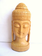 Craftsgallery Wooden Buddha Head Statue, 3 Inches