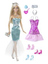 Barbie Doll With Blue/Pink Fashion