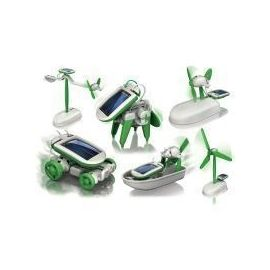 Solar Powered 6 In 1 Robot Kit Diy Educational Toy