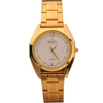 Infiniti Healty Men Wrist Watch Full Gold Finish