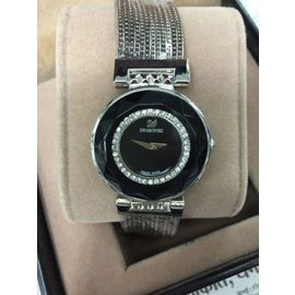 Imported Bridal wear Silver Diamond Gift watch Women Lady ladies Black Dial metal