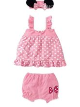 Cute 3 Pc Baby Set In Polka Dots - PINK, 24 Month...