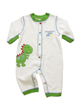White Dino 100% Soft Cotton Knitted Full Body Romp...