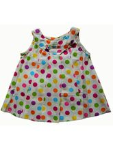 ToffyHouse Bright Polka Dotted White Baby Frock, 0...