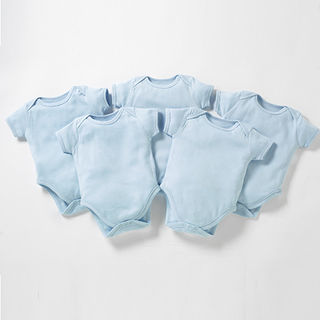 Pack Of 5 Body Suits - Blue (0-3 Months)