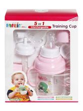 FARLIN 5-in-1 Interchangeable Training Cup-PINK