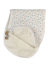 Organic Muslin Bib And Burp Cloths, Blue Polka