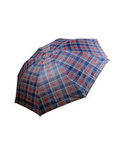 Checks Design Umbrella For Men, Red