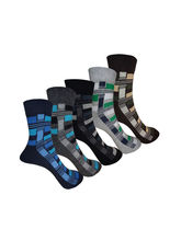 Aov Men Striped Ankle Length Socks Pack Of 5 Pairs...