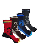Aov Men Striped Ankle Length Socks Pack Of 4 Pairs...