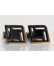 BLACKSMITHH CUFFLINKS - Three Thin Layers Of Metal, Bonded At Off Set Angles To Produce An Amazing, Unusual And Very Wearable Cufflink Design.