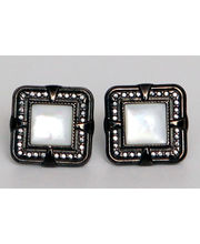 BLACKSMITHH CUFFLINKS - A STUNNING COMBINATION OF MOTHER OF PEARL SET IN AN ANTIQUE CRAFTED CASE