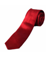 BLACKSMITHH TIES - SOLID SLIM SATIN TIE - MAROON