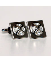 BLACKSMITHH CUFFLINKS - A Stunning Pyramid Of Four Swarovski Crystals Set In A Rhodium Plated Case. This Chic Design Utilises The Sparkle Of The Crystal As They Rise From A Flat Surface. The Blend Of Square Practicality With An Organic Round Detail Makes