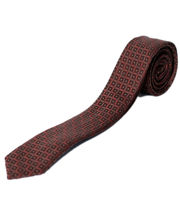 BLACKSMITHH TIES - BROWN INTRICATE ALL OVER WEAVE