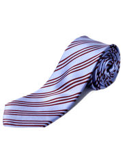 BLACKSMITHH TIES - SKY BLUE AND MAROON STRIPES