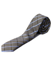 BLACKSMITHH TIES - SKY BLUE AND GREY ABSTRACT CHECKS