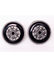 BLACKSMITHH CUFFLINKS - A STUNNING COMBINATION OF BLACK ONYX SET IN AN ANTIQUE PLATED CASE WITH A BLACK SWAROVSKI CRYSTAL